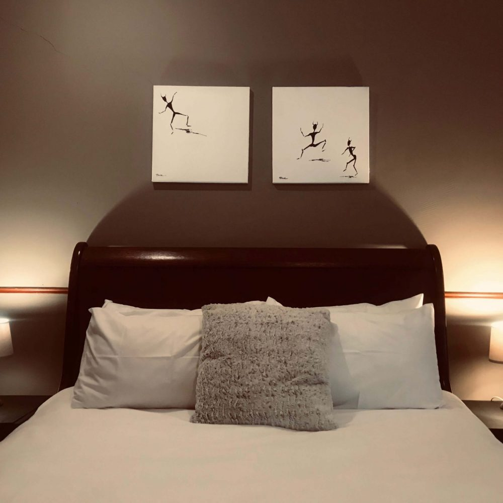 Self cater 2 double beds room 2
